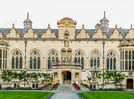 Oriel College Building at Oxford University